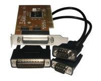Placa PCI serie de 2 puertos low profile (NS-5037AL) chip SUN198