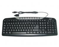 Teclado multimedia (NS-KUSBP) USB y PS2 9 Hot Keys